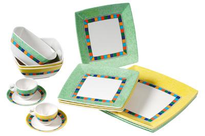vaisselle carmen melamine version carre pour camping car et bateau promo. Black Bedroom Furniture Sets. Home Design Ideas