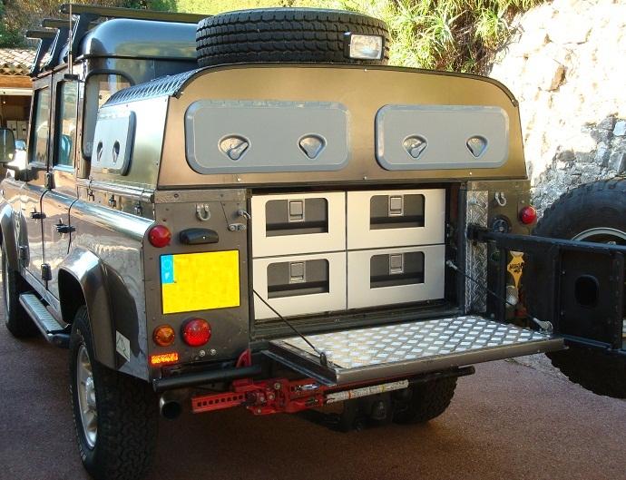 Amenagement A Tiroirs Pour Land Rover Defender 90 110 130