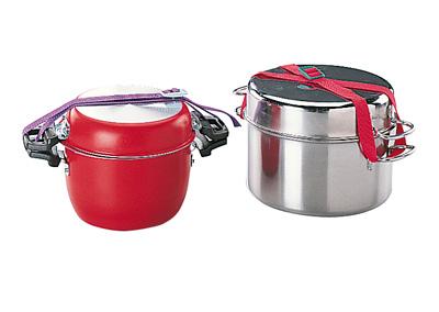 Popote inox 9 pieces accessoires cuisine camping car for Accessoires cuisine inox