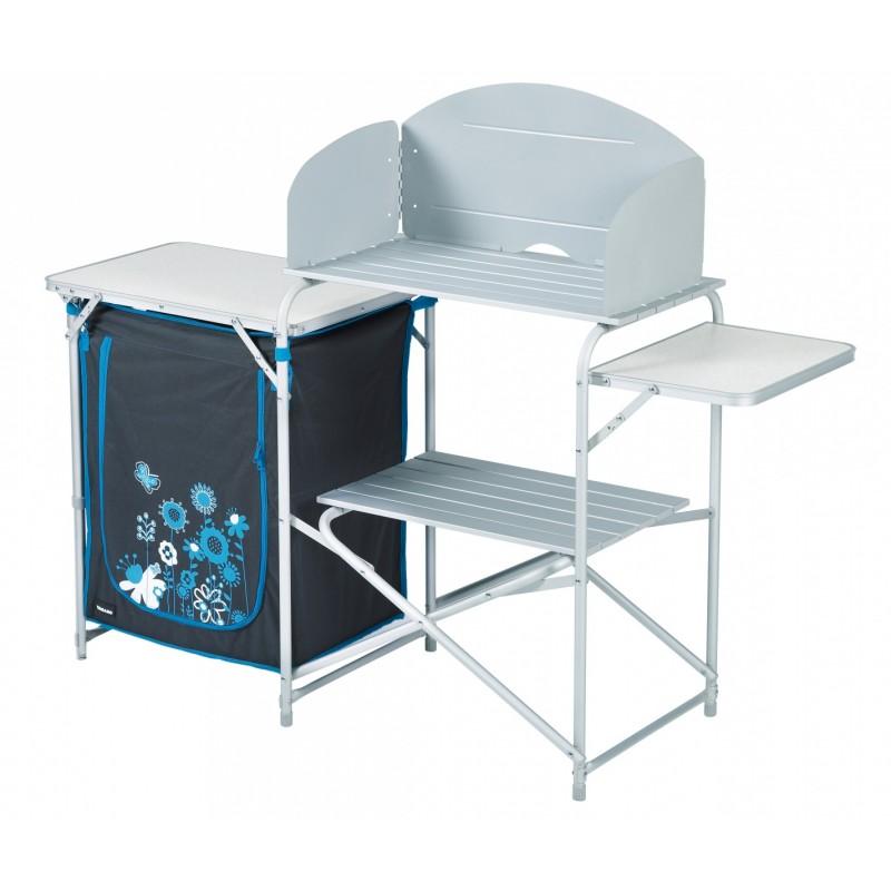 X meuble cuisine avec desserte gris camping car for Meuble cuisine camping car