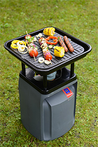 X nomadeo butane de butagaz grill d 39 ext rieur grillades barbecue portable - Bouteille de gaz pour barbecue ...