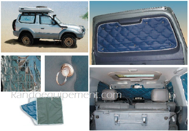 Kit Isolation Vitres 4x4 Pare Soleil Land Rover Discovery Iii